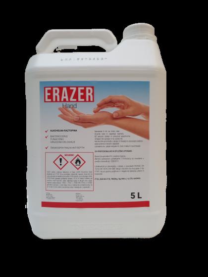 ERAZER HAND, širokospektralni antiseptik za razkuževanje rok s 76 % alkohola, 5 L