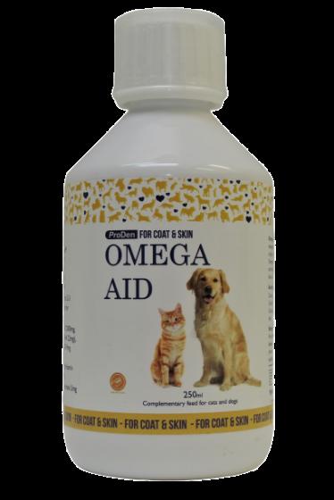 OmegaAid, za kožo in dlako psov in mačk, 250 ml