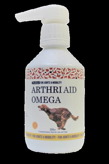 ArthriAid omega, nadomestek za sklepe za pse in mačke, 250 ml s pumpico